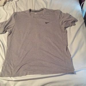 Gray Nike Dri Fit Tee